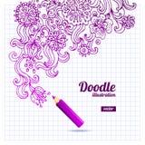 Doodle floral design Stock Images