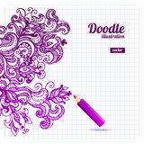 Doodle floral design Royalty Free Stock Image