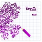 Doodle floral design Royalty Free Stock Image