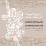 Doodle floral drenado mano