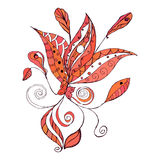 Doodle floral element for design Royalty Free Stock Photography