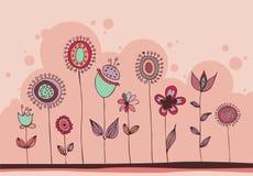 Doodle floral encantador ilustração do vetor
