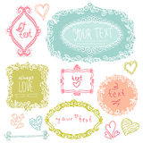 Doodle floral label Royalty Free Stock Images