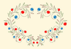 Doodle floral ornament Stock Photo