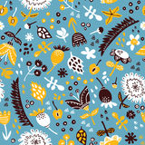 Doodle floral pattern of african collection. Stock Images
