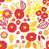 Doodle floral pattern Royalty Free Stock Photo