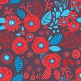 Doodle floral pattern Stock Photos