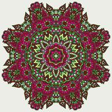 Doodle floral rosette Stock Photo