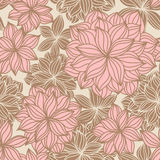 Doodle Floral Seamless Pattern Color Royalty Free Stock Photography