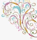 Doodle floral vintage Stock Image