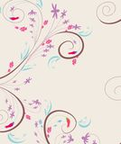 Doodle florals vintage background Royalty Free Stock Photography