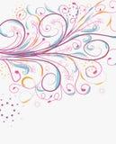 Doodle florals vintage background Royalty Free Stock Image