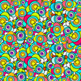 Doodle flower pattern Stock Photography