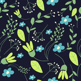 Doodle flower pattern Royalty Free Stock Images