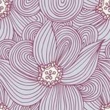 Doodle flower seamless pattern. Floral textile background. Fashionable doodle print Stock Photos