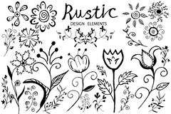 Doodle flower Royalty Free Stock Photography