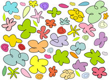 Doodle flowers Royalty Free Stock Photo