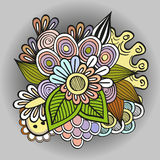 Doodle Flowers Royalty Free Stock Image