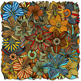 Doodle flowers and leafs Royalty Free Stock Photography