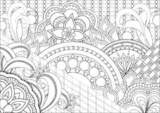 Doodle flowers and mandalas Royalty Free Stock Photos