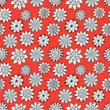 Doodle flowers pattern Stock Image
