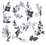 Doodle flowers Stock Images