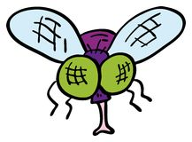 Doodle fly Royalty Free Stock Photo