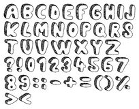 Doodle font Stock Image