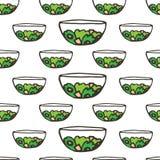 Doodle food greek salad Royalty Free Stock Image