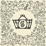 Doodle food icons Royalty Free Stock Photography