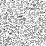Doodle food stock illustration