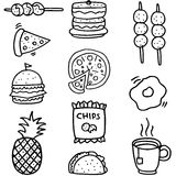 Doodle of food set element stock Royalty Free Stock Image