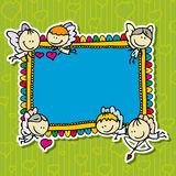 Doodle frame Stock Image