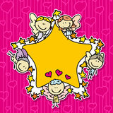 Doodle frame Stock Photo