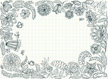 Doodle frame Stock Photography