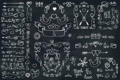Doodle frame,arrows,group,decor element.Love Royalty Free Stock Photos