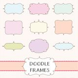 Doodle Frame Borders Set Royalty Free Stock Photography