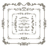 Doodle frame borders Royalty Free Stock Image
