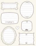 Doodle frame collection Royalty Free Stock Photo