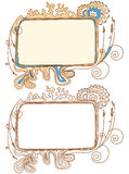 Doodle frames. Vector illustration, lineart stock illustration