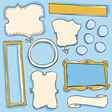 Doodle Frames. A set of hand-drawn frames Royalty Free Stock Images