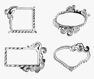Doodle Frames. Illustration of Hand-Drawn Doodles and Design Elements Royalty Free Stock Photos