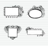 Doodle Frames. Set of Hand-Drawn Doodles and Design Elements Stock Photo