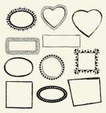 Doodle Frames. Illustration of Hand-Drawn Doodles and Design Elements Stock Images