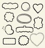 Doodle Frames. Illustration of Hand-Drawn Doodles and Design Elements Stock Image