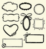 Doodle Frames. Illustration of Hand-Drawn Doodles and Design Elements Royalty Free Stock Photography