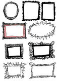 Doodle frames Royalty Free Stock Image