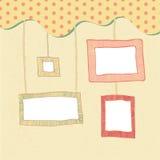 Doodle frames background Stock Image