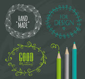 Doodle Frames and design elements. Royalty Free Stock Image