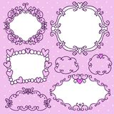 Doodle frames in French style Royalty Free Stock Photos